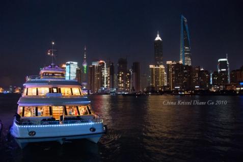 Cruising Huangpu River at night
