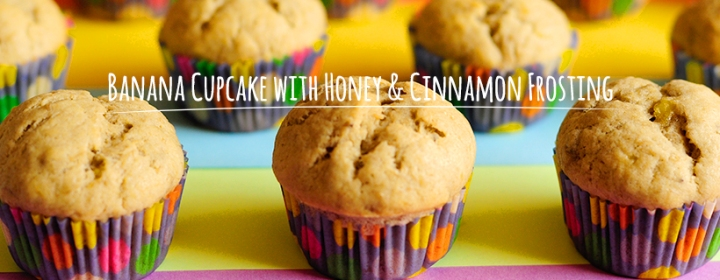 Banana Cupcake with Honey & CinnamonFrosting
